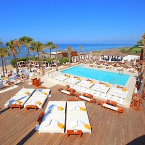 Nikki Beach Club in Marbella, Spain