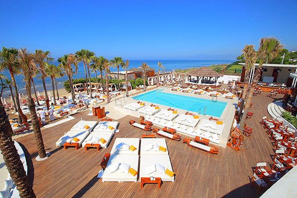Nikki Beach Club in Marbella, Spain