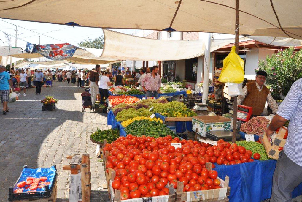 Yalikavak Market open every thursday with local produce and goods available