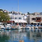 Yalikavak old marina with restaurants boasting stunning sea views