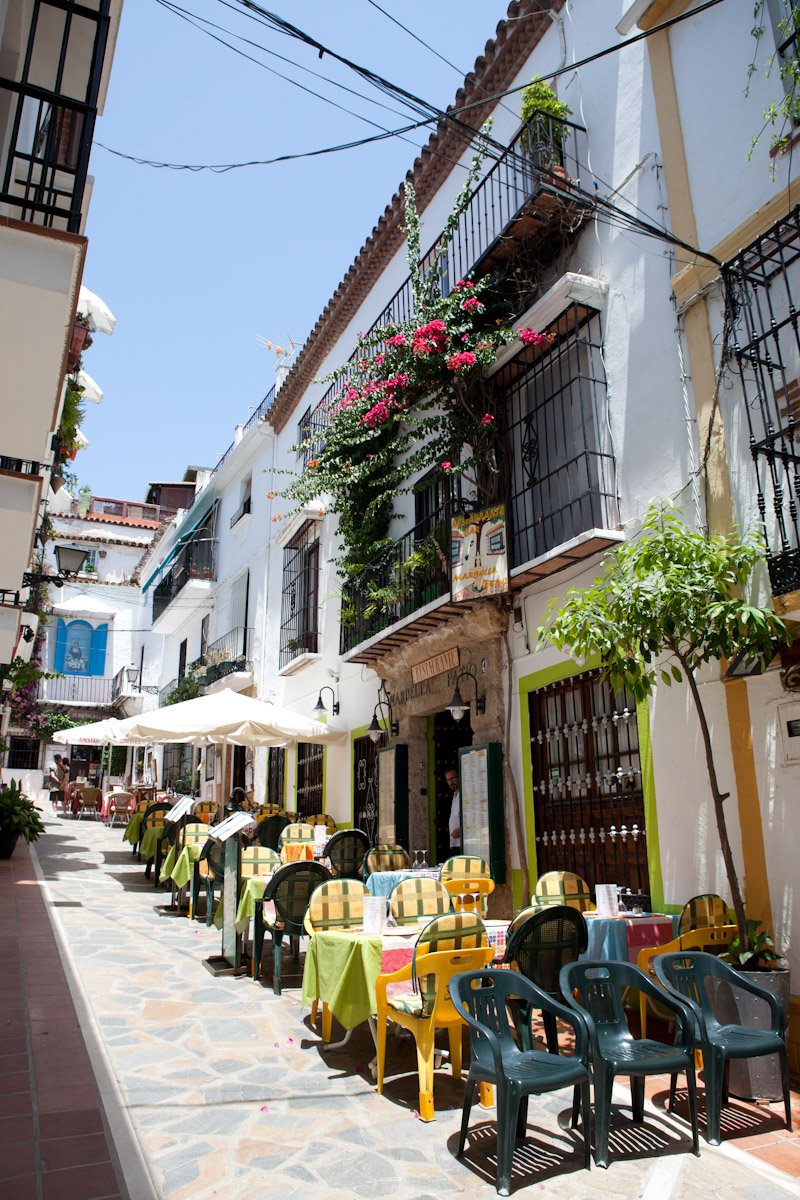 Marbella with its charming and beautiful streets lined with wonderful floral displays, restaurants, bars and shops