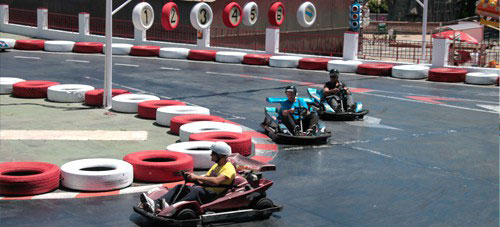 Go Karting fun at Tivoli World