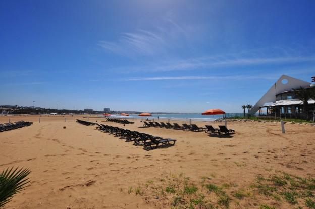 Sun loungers on Agadir Beach