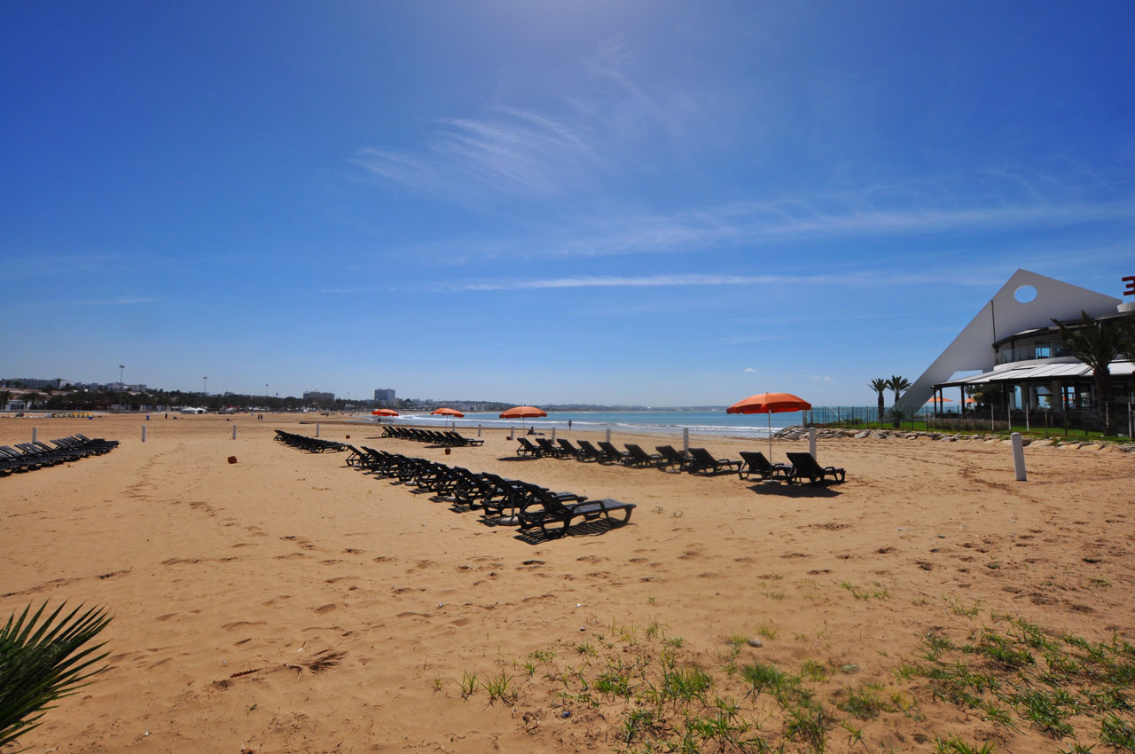 Fantastic Huge Sandy Agadir Beach In Morocco