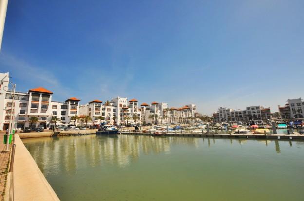 Looking across Agadir Marina in Morocco