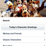 Disney Characters iPhone Screenshot