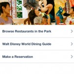 Disney Dining Guide iPhone Screenshot