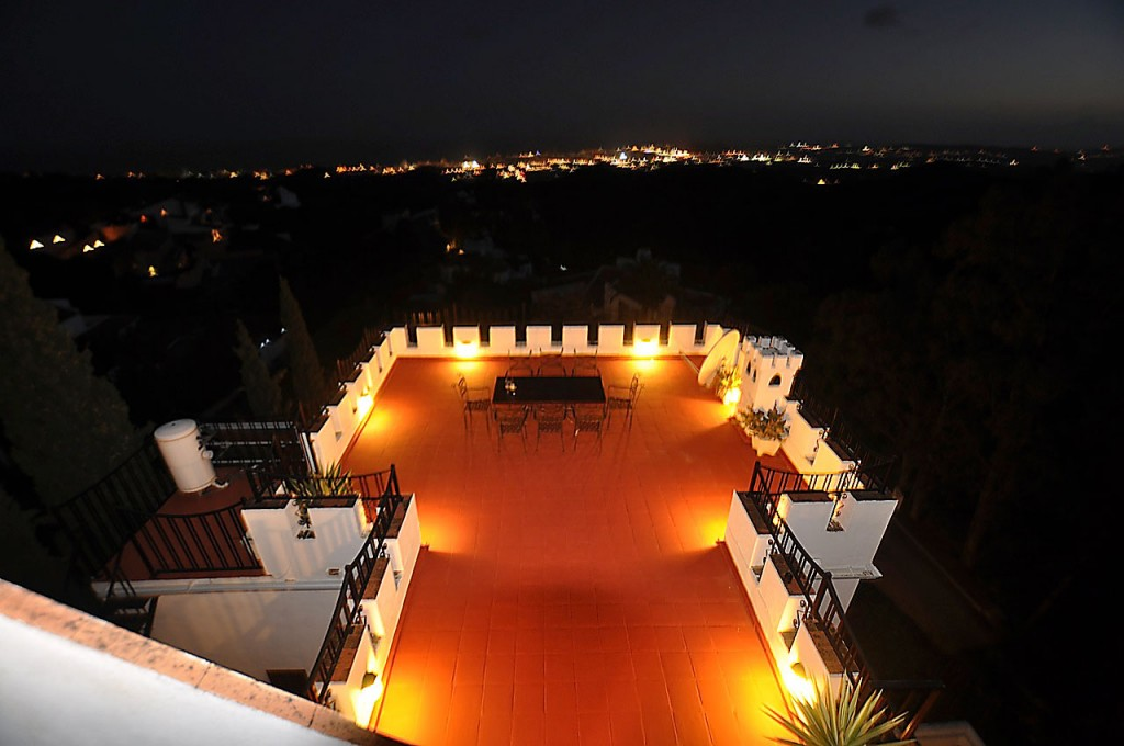 El Castillo del Narajal in Mijas at Night