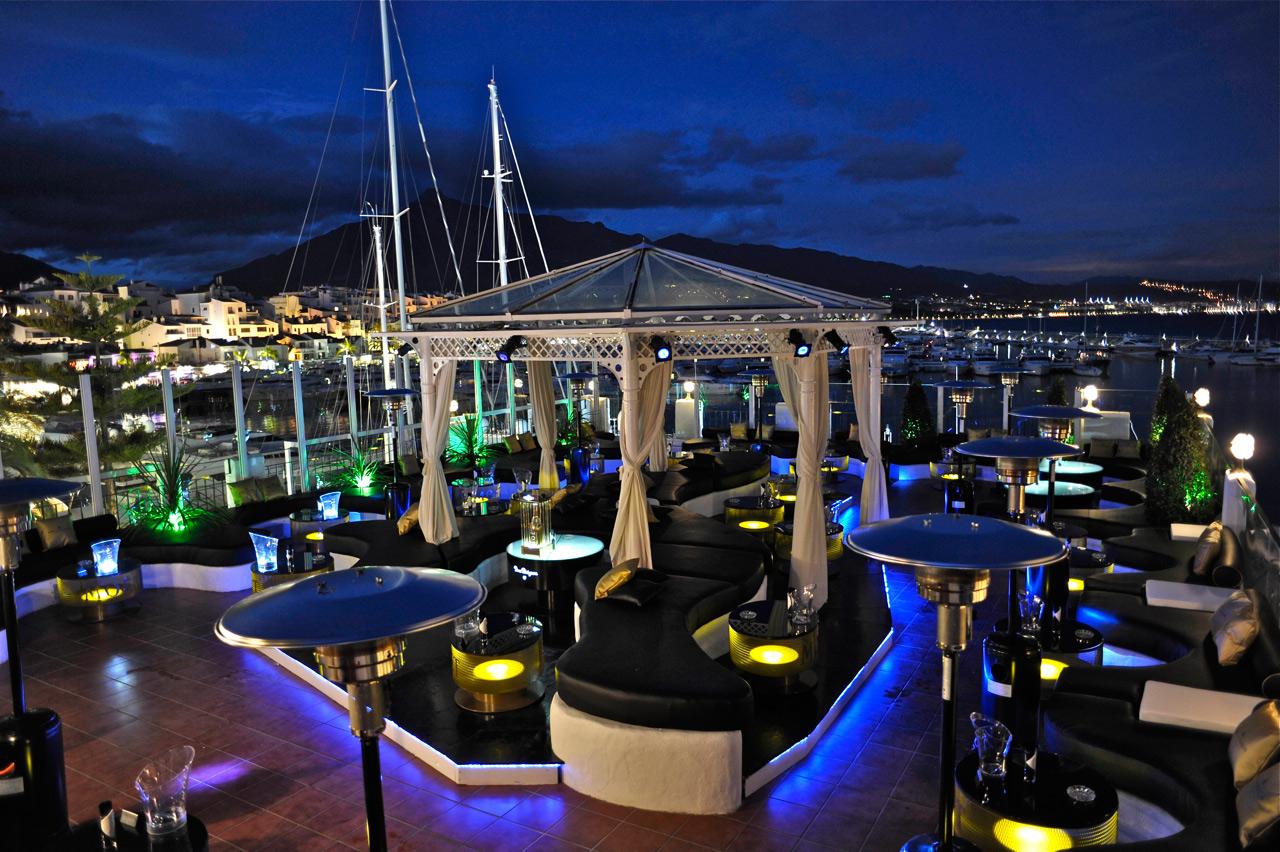 Pangea Bar, Puerto Banus Marina on the frontline of the marina for the last 10 years