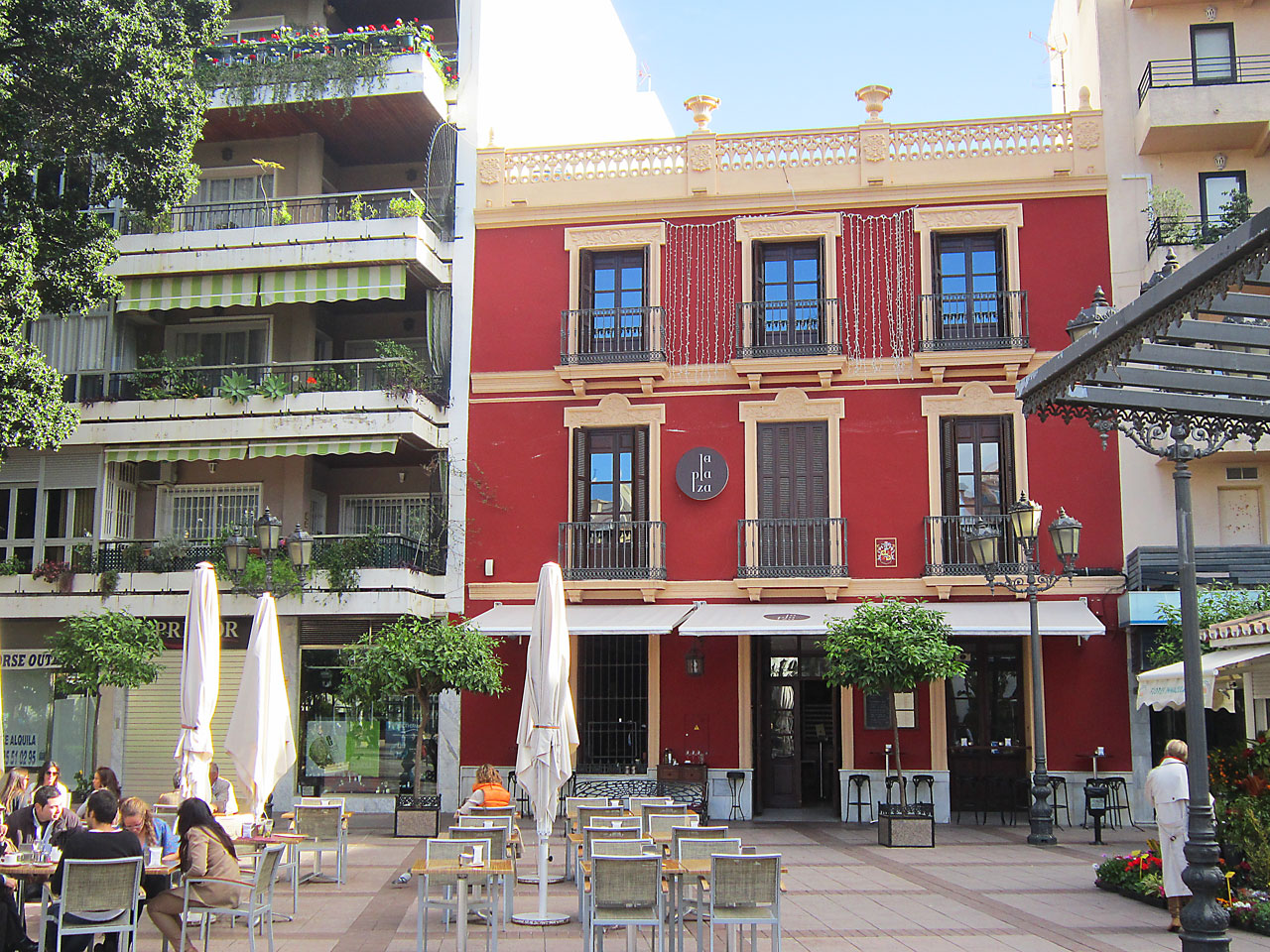 Plaza de la Constitution with its many eateries, cafes and bars