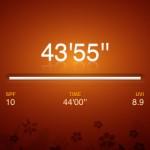 Sunscreen App Timer screen shot