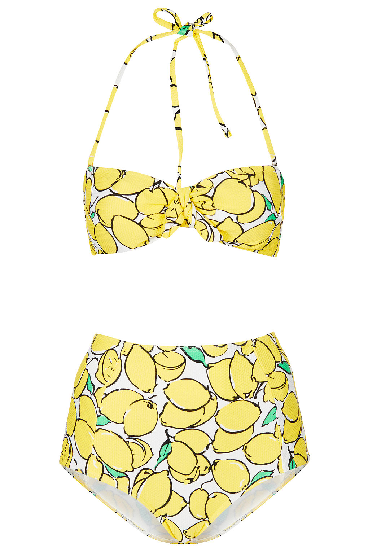 Lemon Yellow Bandeau Bikini