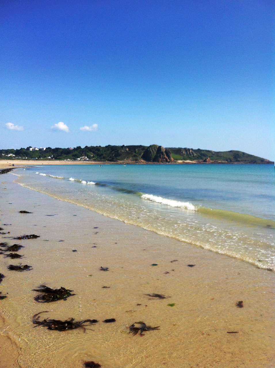Beach at St Brelade's Bay in Jersey