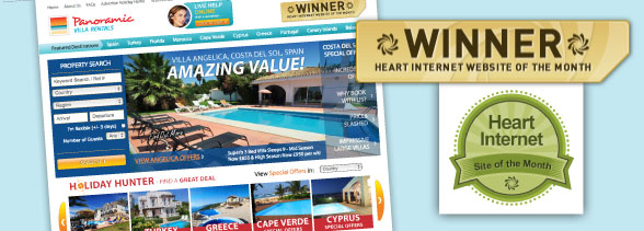Panoramic Villas - Heart Internet's Website of the Month Winner!