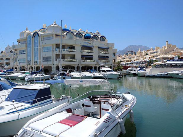 The modern Benalmadena Marina