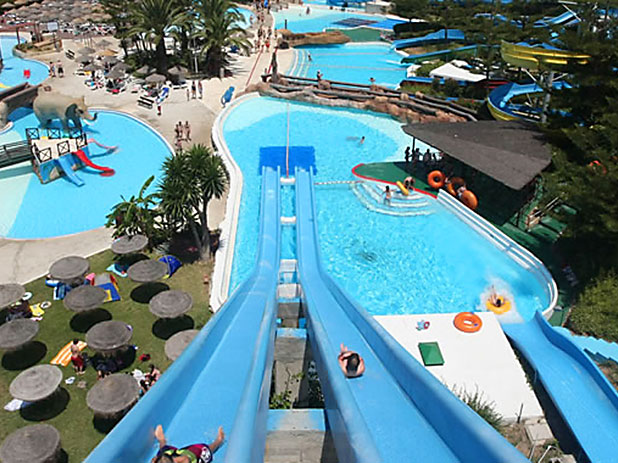 Mijas Waterpark Kamikaze adventure slide