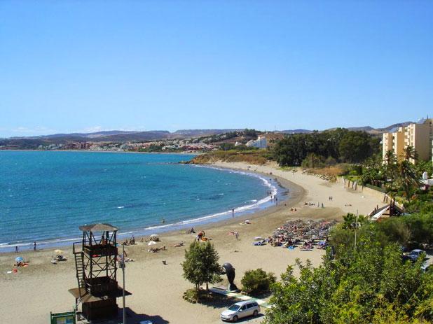 Playa El Cristo Beach in Estepona, Spain