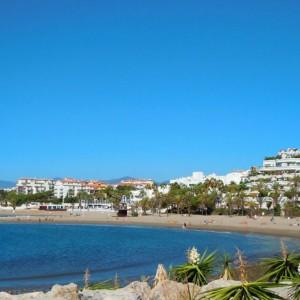 Puerto Banus Beach, Marbella on the Costa del Sol