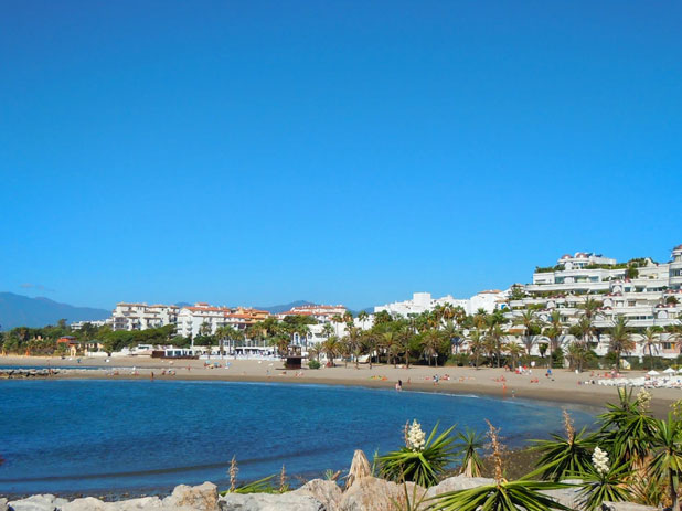 Puerto Banus Beach, Marbella on the Costa del Sol