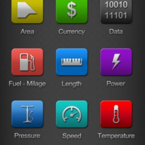 Units Plus iPhone Categories Screen