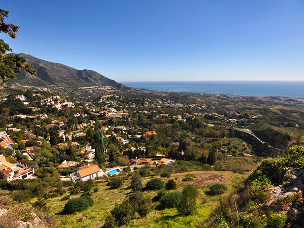 Sierra de Mijas Mountains on the Costa del Sol boasts stunning panoramic views
