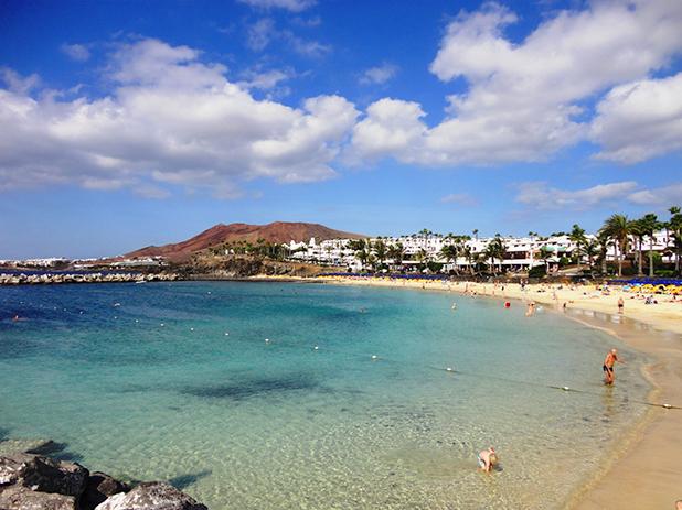 The beautiful Flamingo Beach in Playa Blanca, Lanzarote