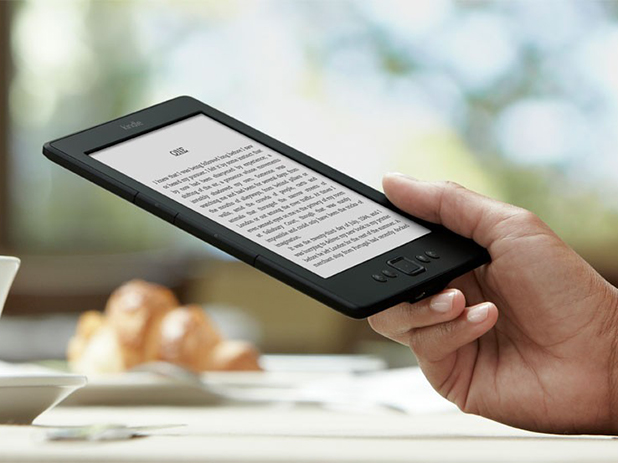 Kindle e-reader from Amazon can hold an impressive 1,400 books