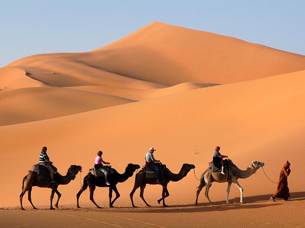 For an alternative Christmas try a camel trek into the Sahara