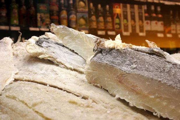The Portuguese on Christmas Eve enjoy Bacalhau (salted cod)