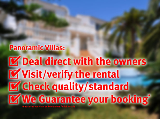 Quality Verses Quality? You can book in total confidence with Panoramic Villas