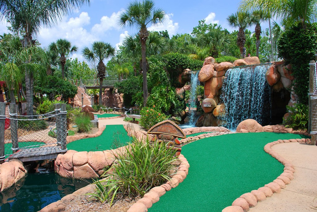 Congo River Crazy Golf in Kissimmee, great fun for adults and kids