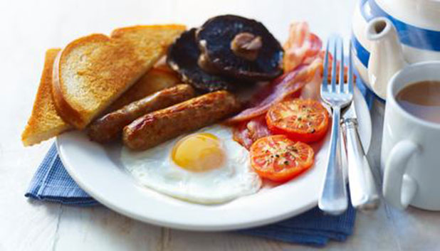 Get stuck into a full English breakfast, a great way to start your holiday!