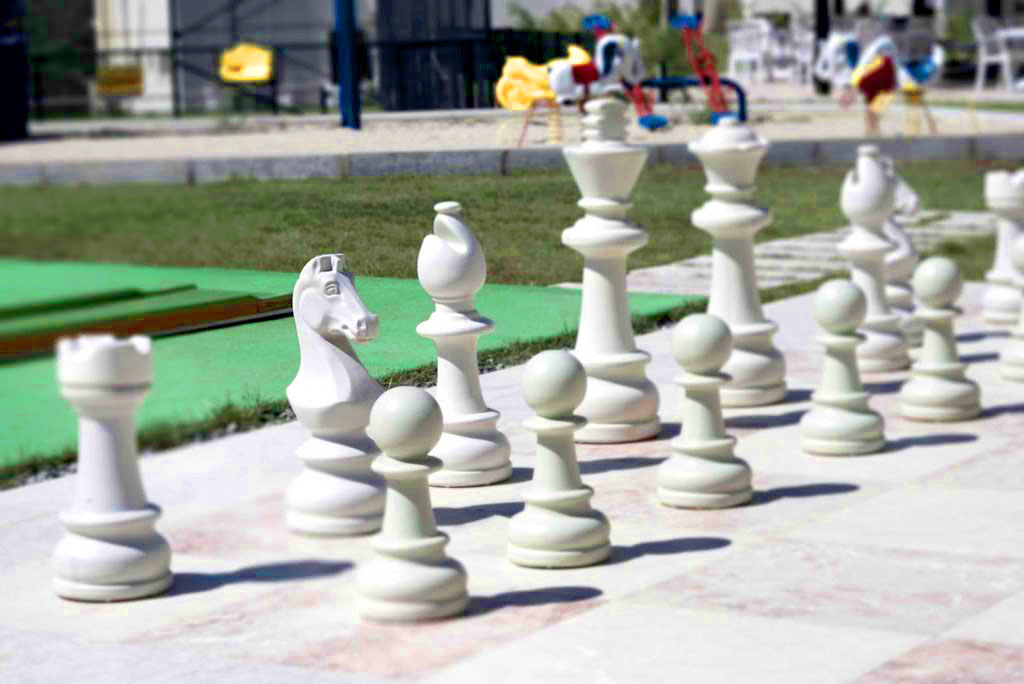 Giant chess makes this game more fun for kids and adults
