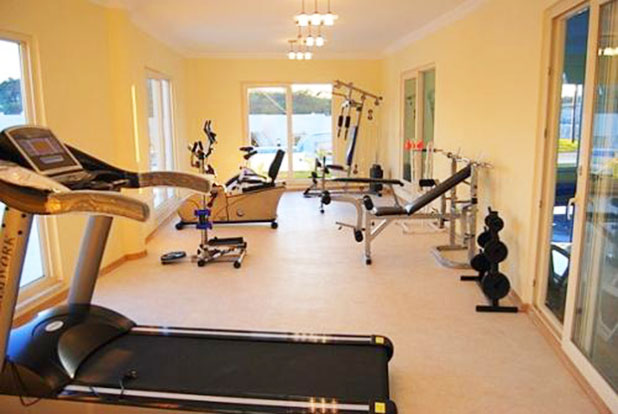 The fitness centre with a range of cardio and weight machines