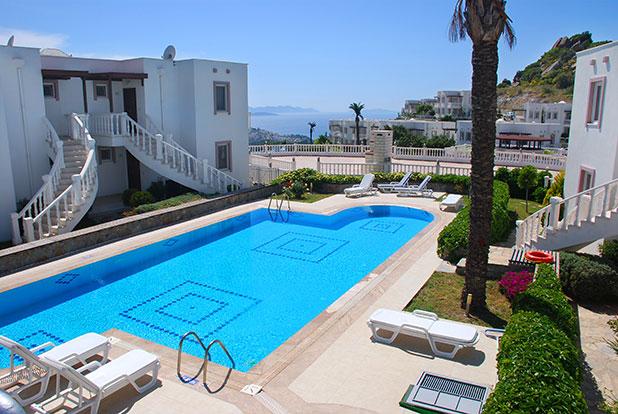 Pool 6: Yalikavak Holiday Gardens communal pool by the Kardelen Apartments