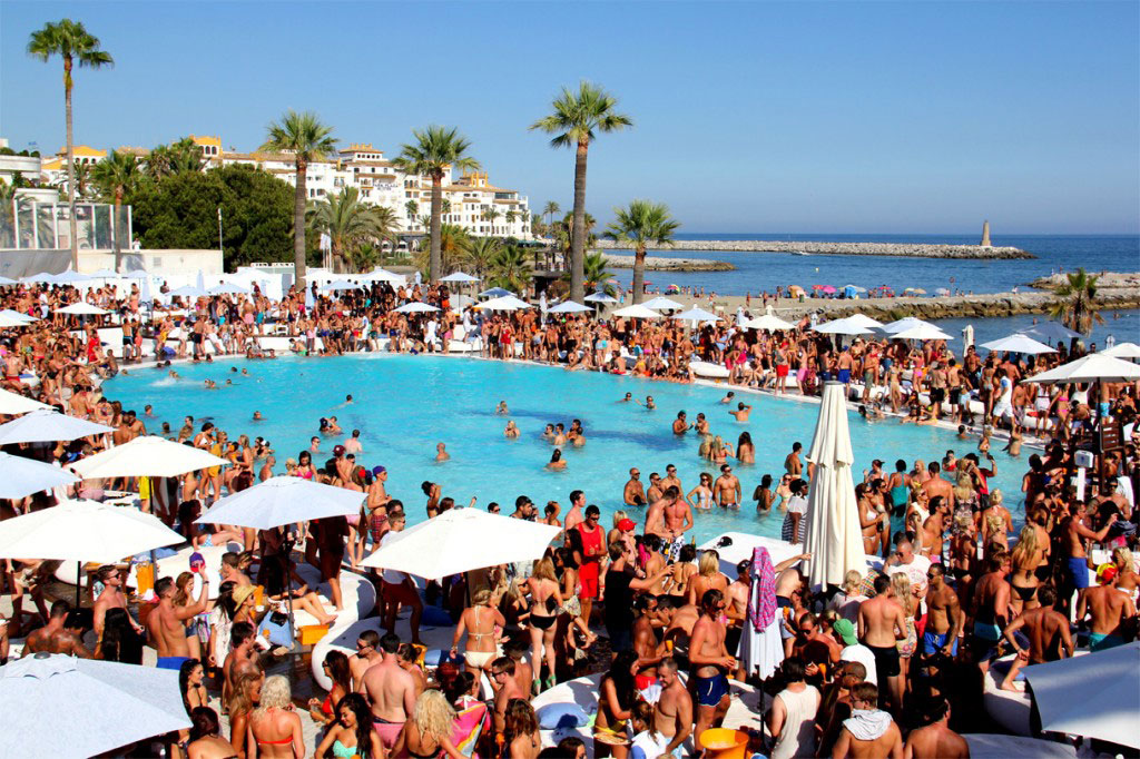 Try the Summer 'Champagne Parties' at the Ocean Beach Club