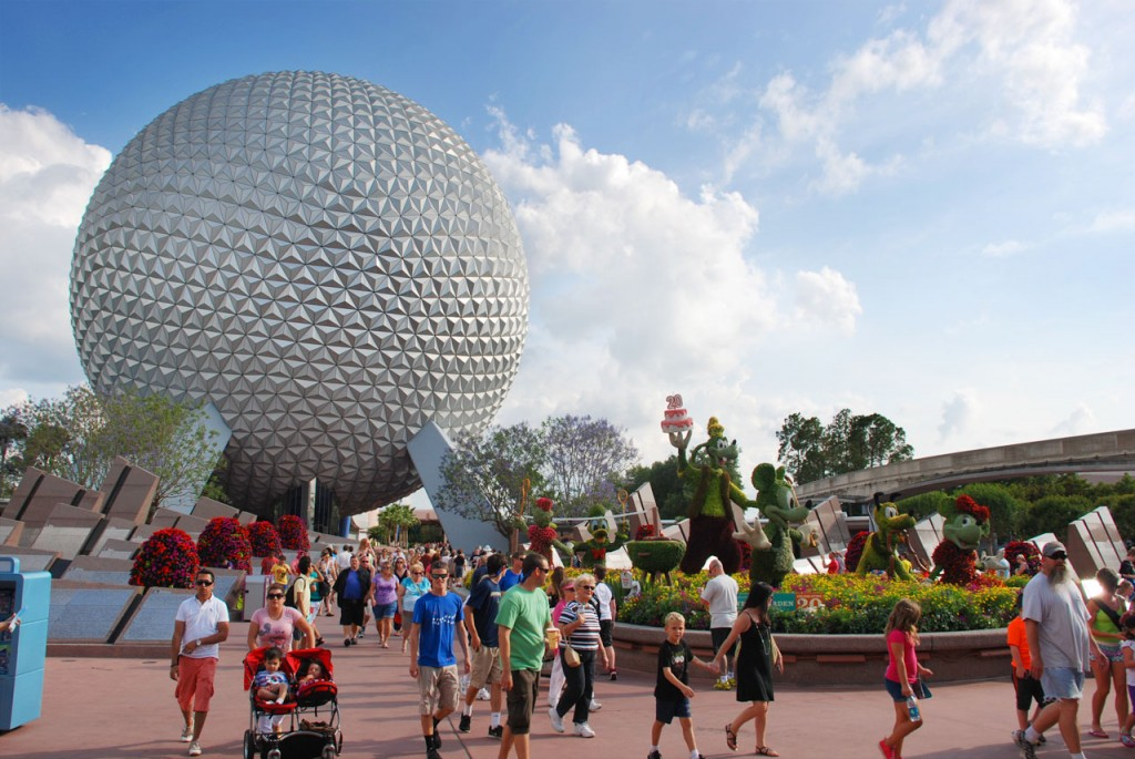Epcot is the 2nd of the 4 Walt Disney World theme parks - best known for the Spaceship Earth sphere attraction