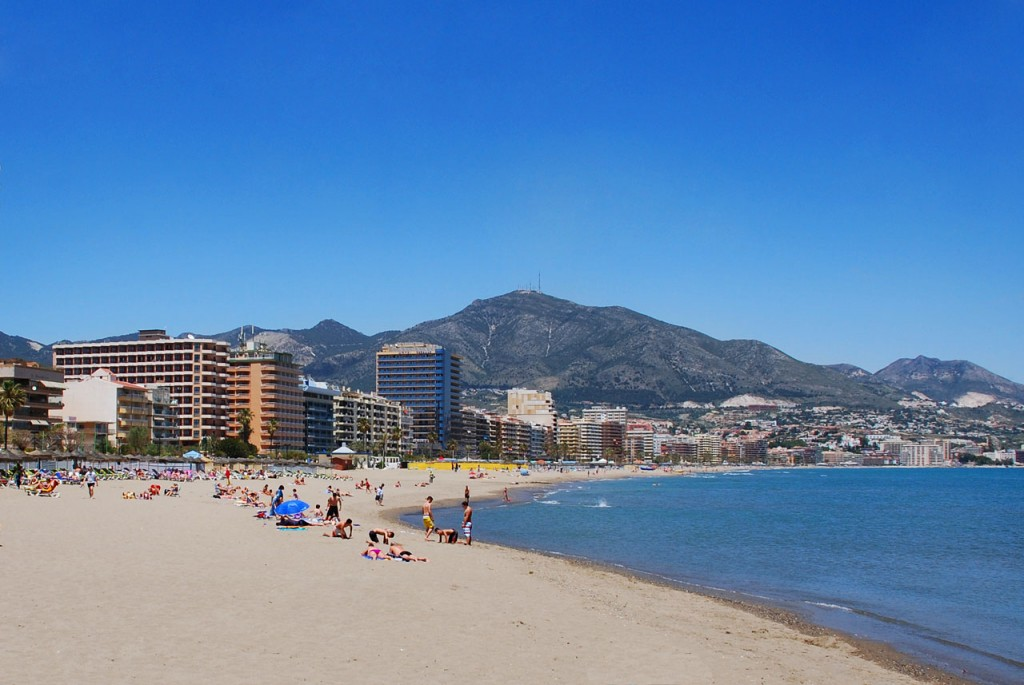 Fuengirola beach is a family favourite with its long sandy beaches on the Costa del Sol of Spain
