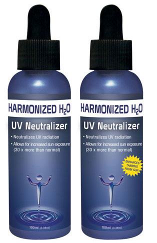 Harmonized H2O UV Neutralizer, the world's first drinkable SPF