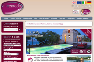 Villa Parade website screen capture - NOW CLOSED