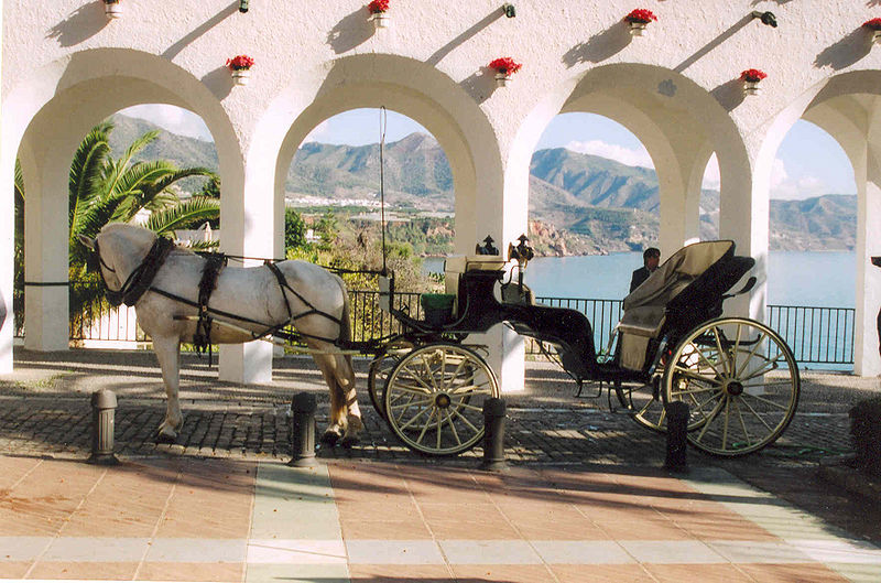 Balcón de Europa, experience the views in style by horse and carriage - photograph CC by SA Technische Fred