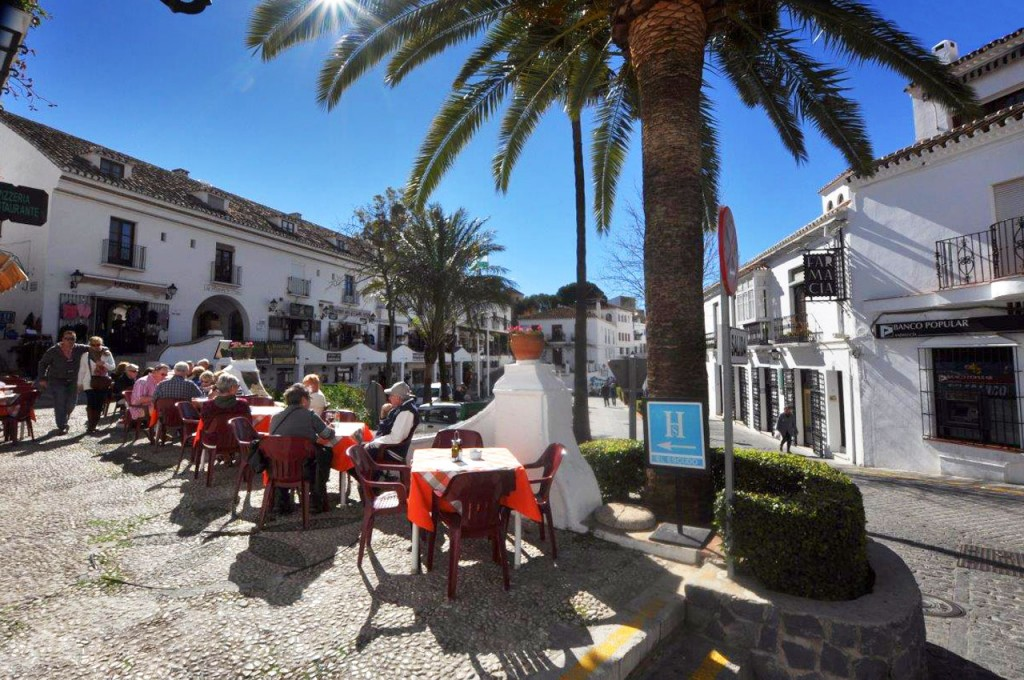 Relax outside one of the Mijas restaurants and dine with the locals