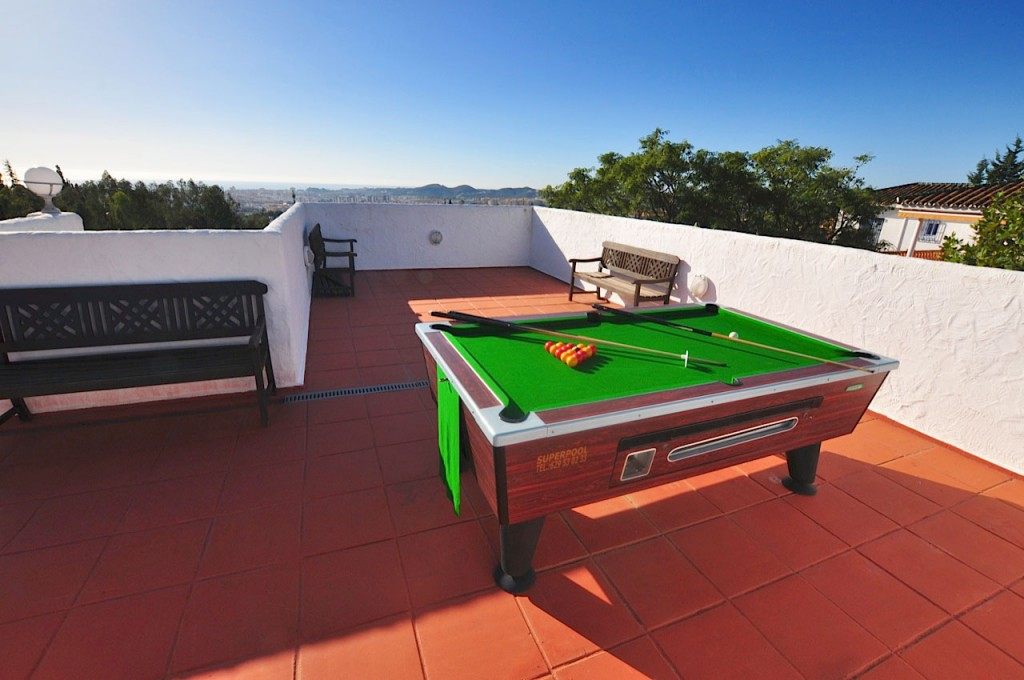Villa SP001 with large rooftop terrace, pool table and stunning panoramic views