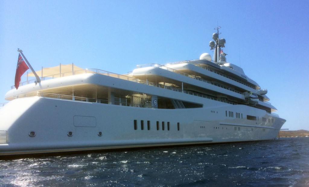 The Eclipse is the world's second largest privately owned super yacht