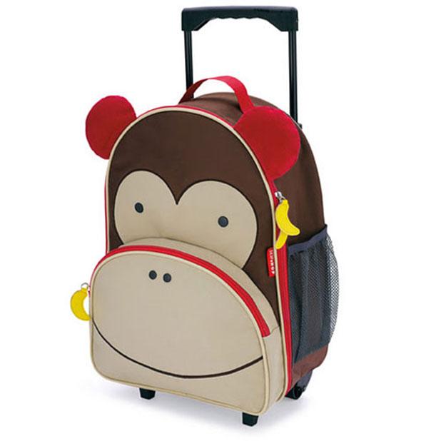 Skip Hop Zoo Trolley Monkey luggage for kids