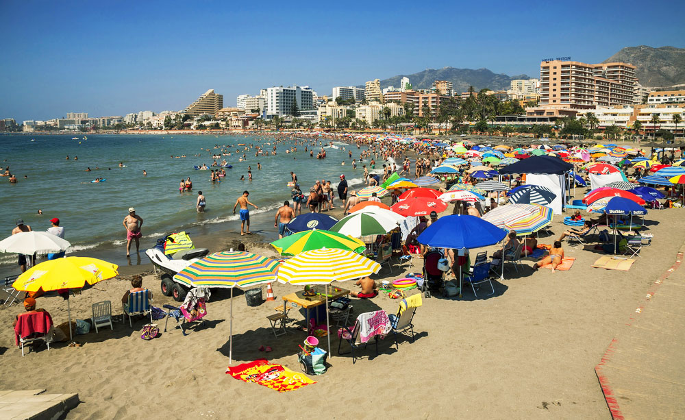 July 2013 on Benalmadena beach