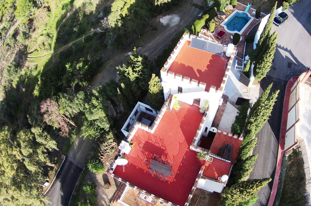 Drone aerial photo of Villa SP004 and grounds
