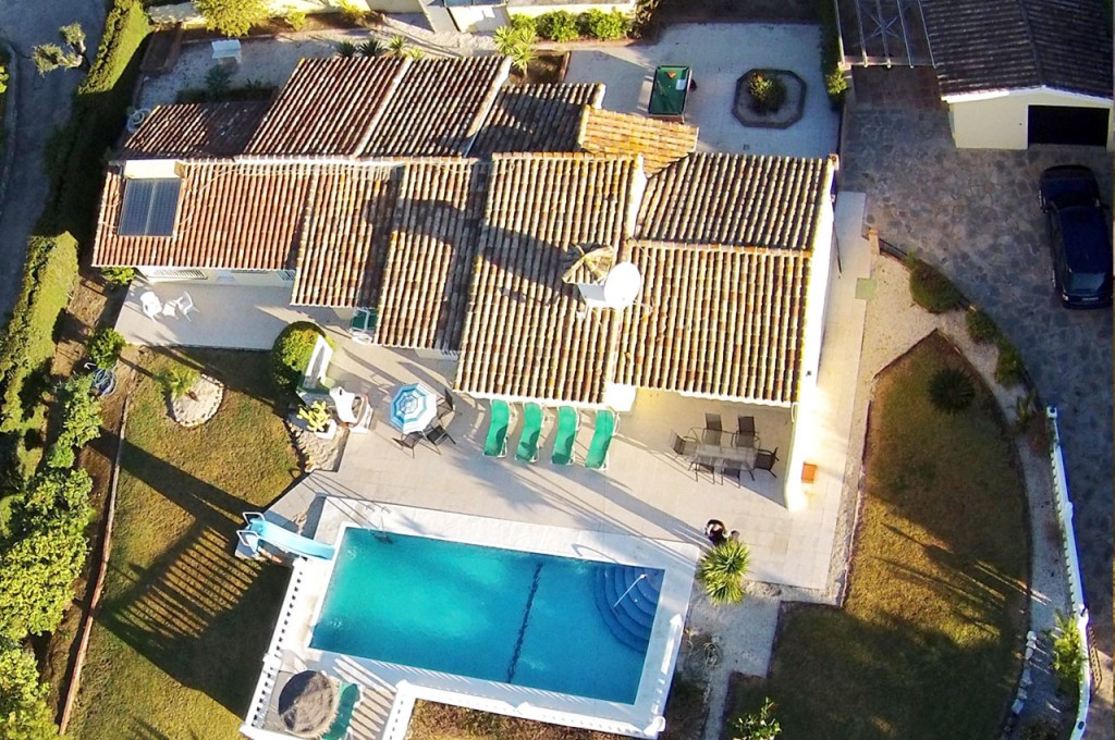Drone aerial photo of Villa SP005 and grounds