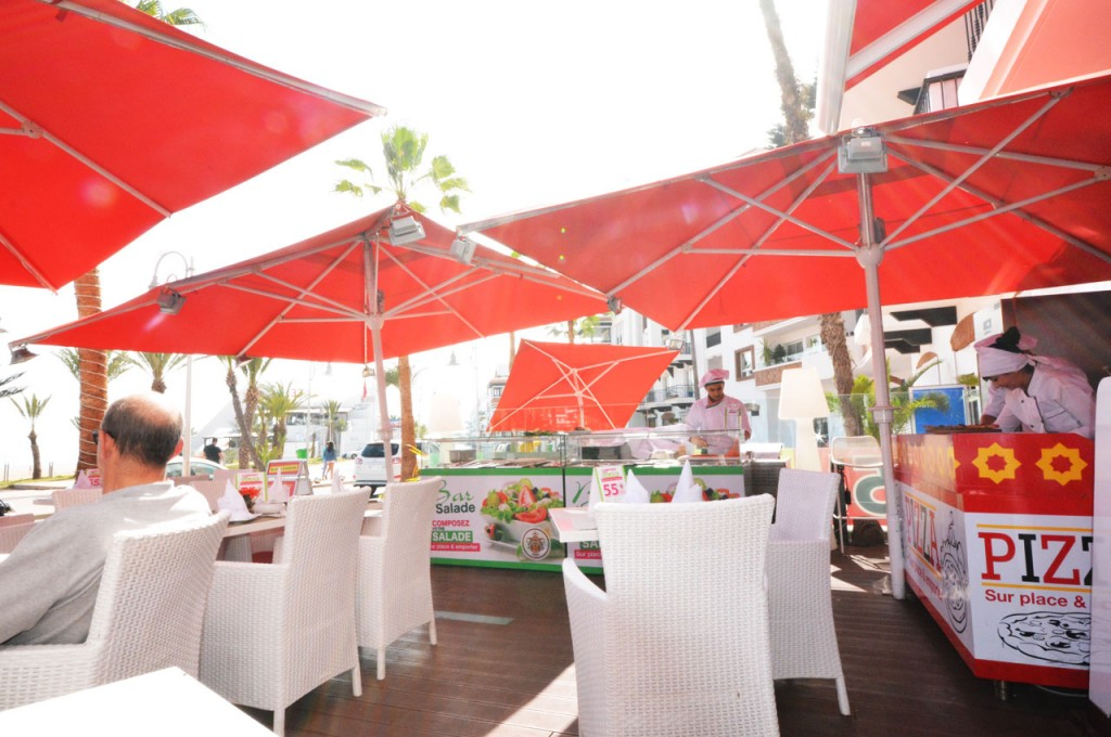 Enjoy freshly made pizza at Havana Restaurant in Agadir