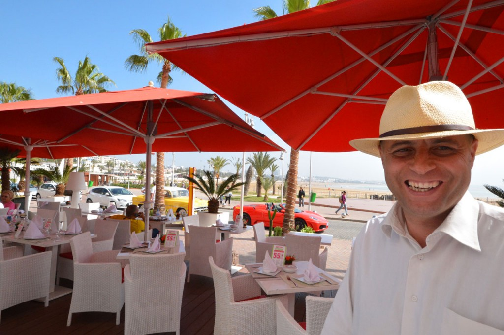 A warm welcome at Havana Restaurant and stunning views of the beach and sea